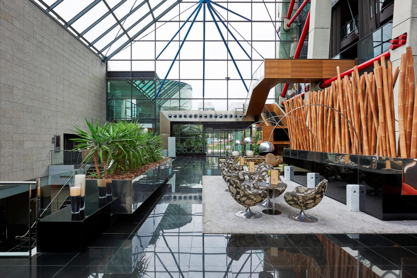 Lobby inside Hyatt Regency Barcelona Tower