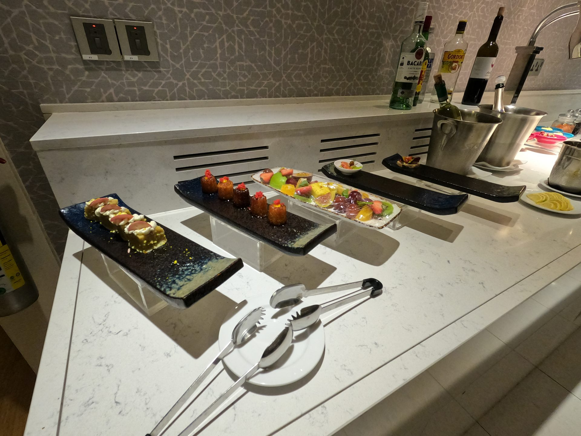 Fresh fruits and light desserts at the executive lounge
