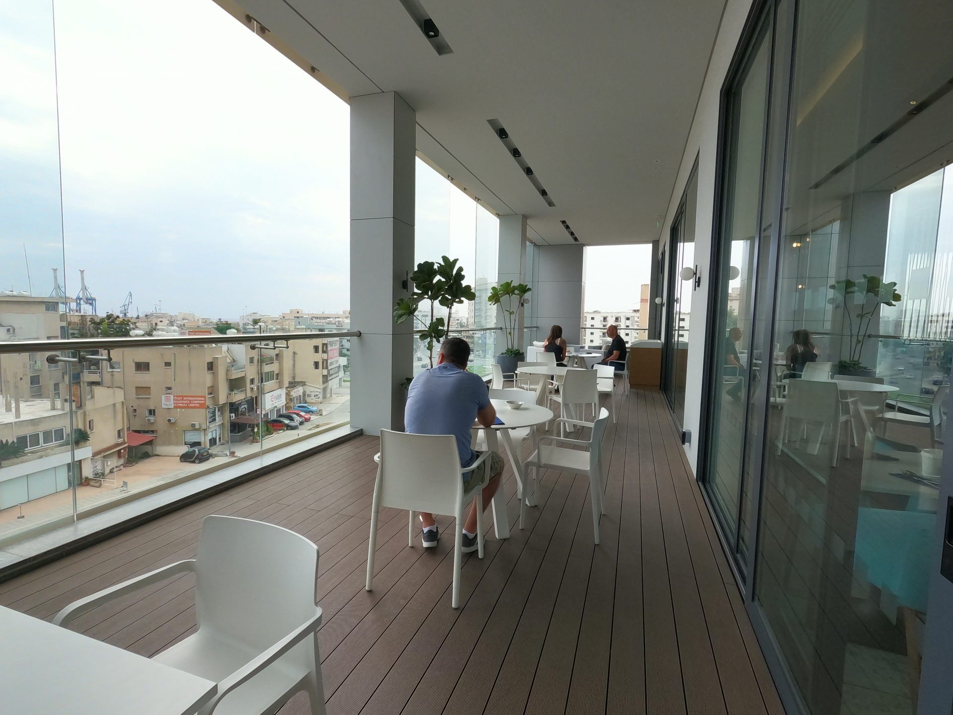 The outdoor balcony