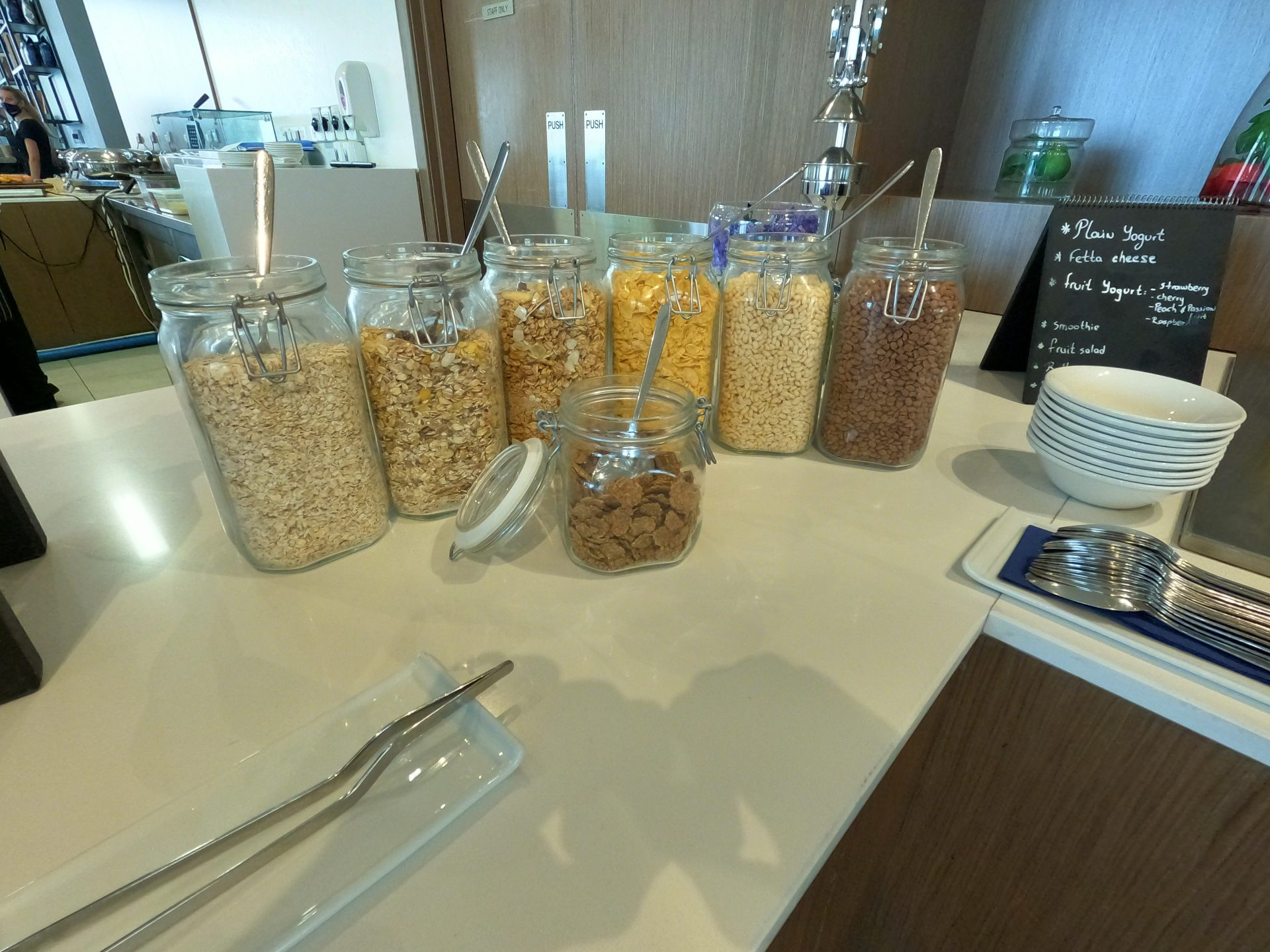 Different types of cereals