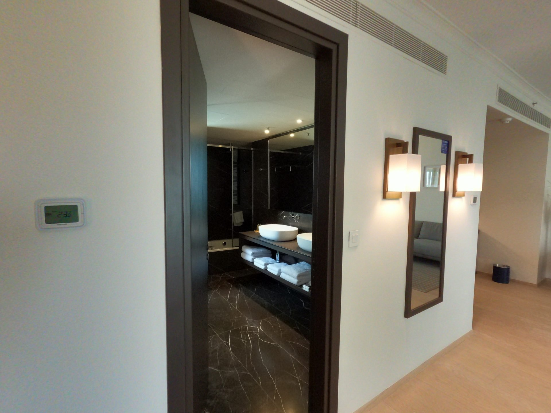 Entrance to the master bedroom of the one bedroom suite