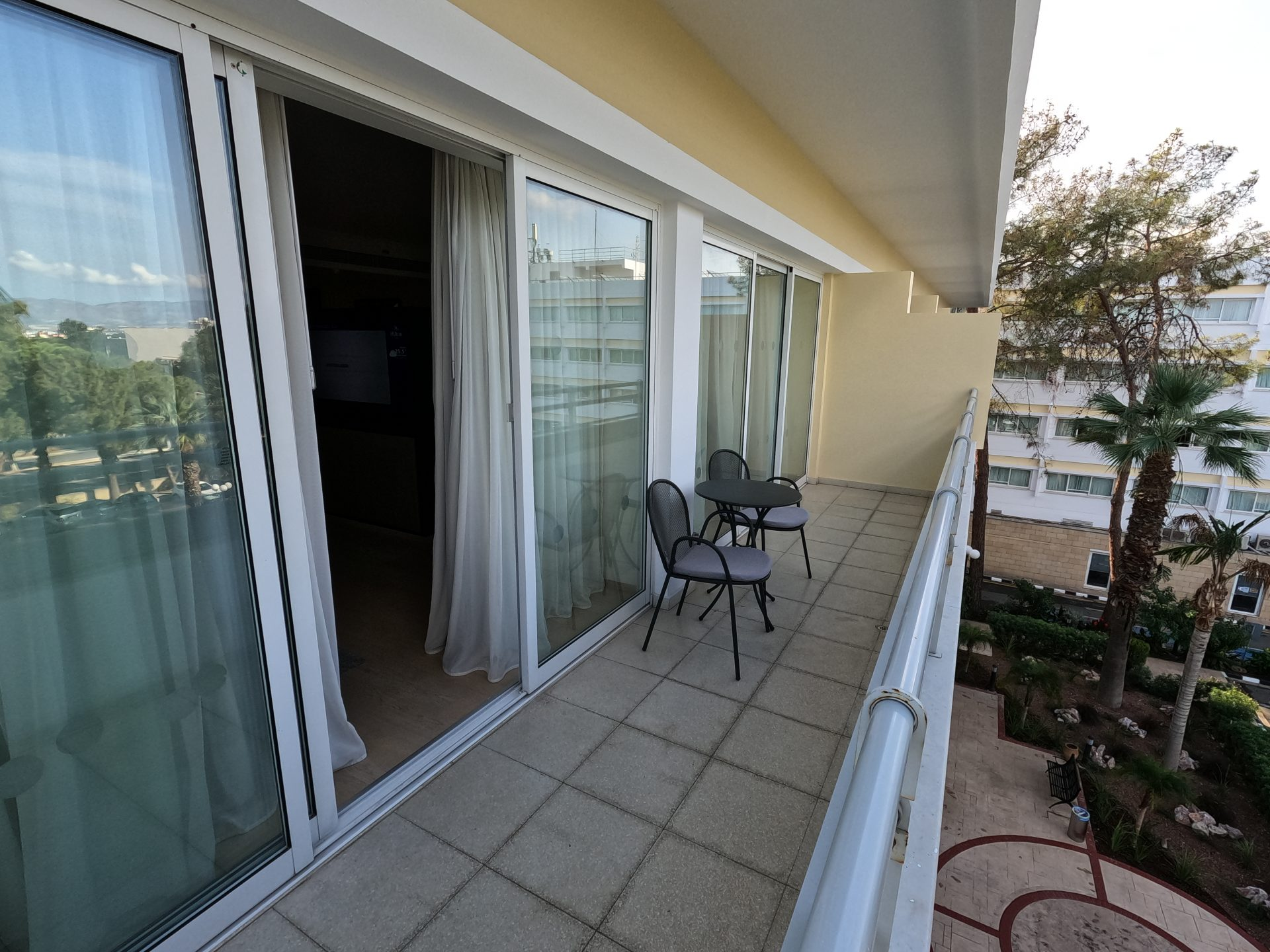 The balcony of the master bedroom (shared with second room)