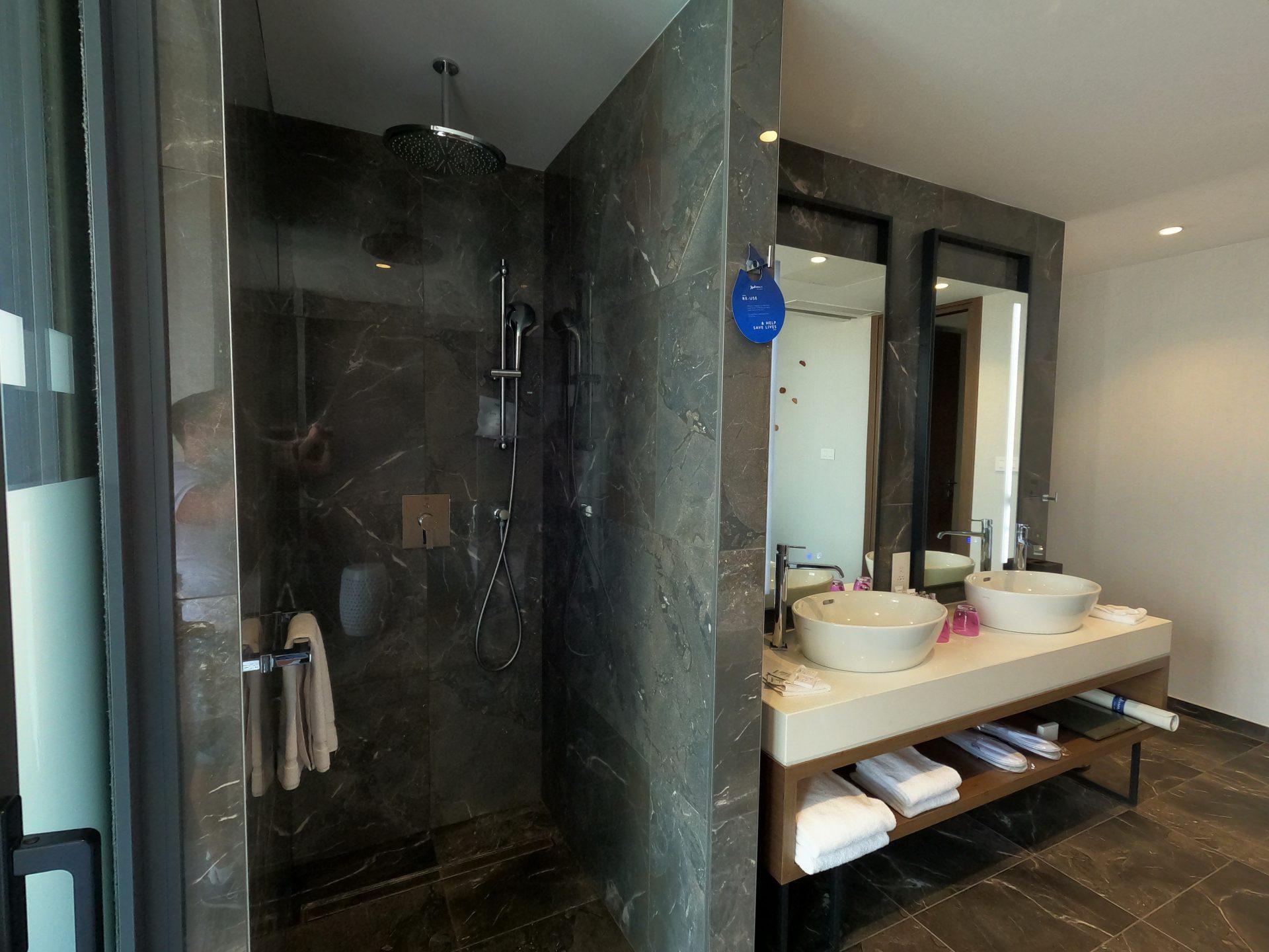 Rain shower in the bathroom